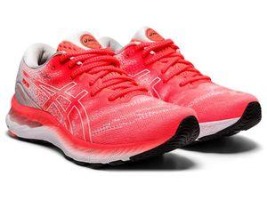 Asics GEL-NIMBUS™ 23 TOKYO Laufschuhe Damen rot weiß : 42,5 Größe: 42,5