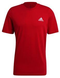 adidas Herren Sport-Fitness-T-Shirt Essentials Embroidered Small Logo rot, Größe:XL