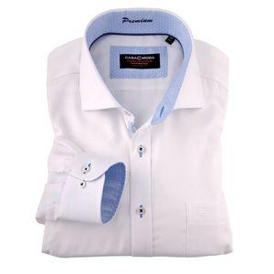 CasaModa weißes bügelfreies Langarmhemd XXL , Kragenweite:44