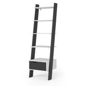 Bücherregal NAPOLI Standregal Stufenregal Wandregal Wohnregal schwarz/weiß
