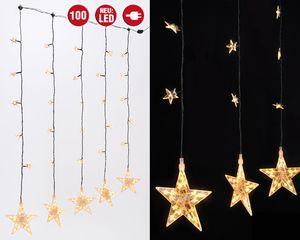 100 LEDs Sternenvorhang Lichterkette Lichtervorhang Weihnachtsbeleuchtung Fenster
