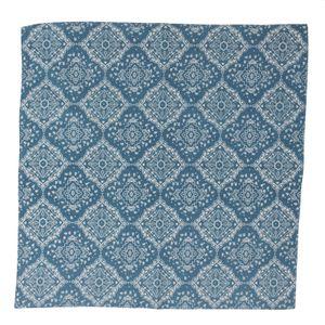 Bandana Tuch - Kariert - Ornamente - türkis-weiß - quadratisches Kopftuch