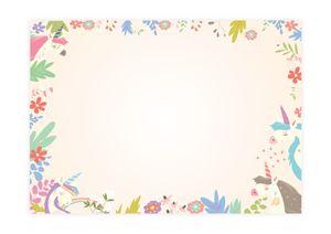 Friendly Fox Einhorn Schreibtischunterlage Papier - XXL Notizblock Malblock - A2 Block aus Papier zum Abreißen - 25 Blatt - Schreibtisch Organisation - rosa pink Schreibtischunterlage Kinder Mädchen Teenager