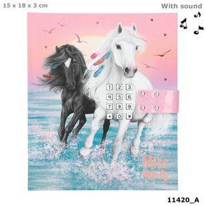 Depesche 11420 weißes Pferd Miss Melody & Black Angel Tagebuch mit Code + Sound