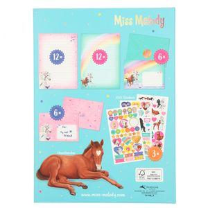 Depesche 11418 Miss Melody Briefpapier weißes Pferd & Fohlen