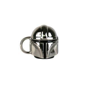 Star Wars The Mandalorian Helm Mini Tasse Silber Gold Edition Porzellan Becher
