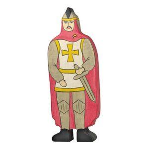 Holztiger 80244 Ritter mit rotem Mantel, rot