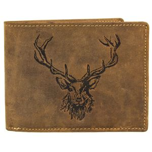 Greenburry Vintage Leder Geldbörse Portemonnaie 1705-RS, Farbe:Brown