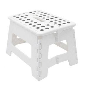 Klapphocker / Tritthocker, 29x22x22 cm, weiß-schwarz