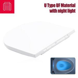 Xiaomi Youpin Diiib Toilettensitze Abdeckung Ersatz Universal Verdicken Slow-Close Toilettensitze Deckel mit Nachtlicht U Typ UF Material