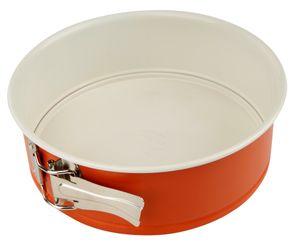 Dr. Oetker Springform Ø 20 cm DieMaus, runde Backform, hochwertige Kuchenform aus Stahlblech, Form mit keramisch verstärkter Antihaftbeschichtung (Farbe: Maus-Orange/Creme)
