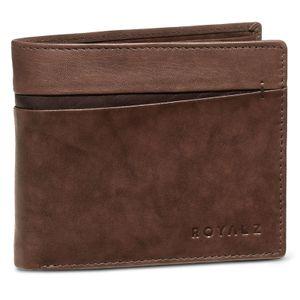 ROYALZ Vintage Portemonnaie Herren RFID Schutz Geldbörse Leder NFC / RFID Blocker Brieftasche 6 Kartenfächer, Farbe:Santiago Braun