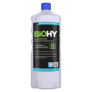 BiOHY Glasreiniger für Fenstersauger (1l Flasche) | geeignet für alle Fenstersauer | sorgt für strahlenden Glanz auf allen glatten Flächen | für eine klare und streifenfreie Reinigung