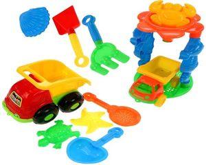 10tlg. Sandspielzeug Set Sandkasten Spielzeug Strandspielzeug Formen Schaufel Sand Strand Kipper Lader