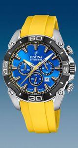 Festina Herren Uhr F20544/4 Chrono Bike Kautschuk, gelb, blau