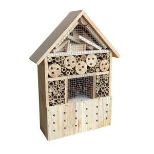 Insektenhotel 285x110x370 mm natur hängend Bienenhotel Nistkasten Insektenhaus
