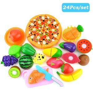 Küchenspielzeug, 24 Teile Plastik Essen Spielzeug Obst Gemüse Ebensmittel Küche Kinder Pädagogisches Lernen Spielzeug Küchen Spielzeug Set Play Kinder Rollenspiele Spielzeug