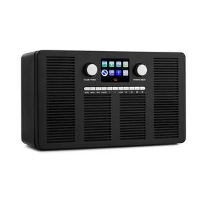 "auna Vertico Internetradio mit CD-Player , SmartRadio: Internet / DAB+ / FM-Radiotuner , Slot-In CD-Player , Bluetooth-Funktion , App-Control via UNDOK , 2,4"" HCC Display (High Contrast and Color) , Weckfunktion , Abschalt-Timer , AUX-Eingang , USB-Port , Fernbedienung , schwarz"