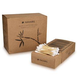 800 Stück Öko Wattestäbchen aus Bambus und Baumwolle