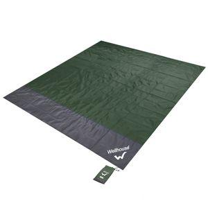 Wasserdichte Stranddecke Tragbare Picknick-Matte im Freien[green & Größe L]
