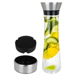 Glaskaraffe 1L mit Kühlelement Glas Karaffe Kühlkaraffe Wasserkaraffe Kühler Wasserkrug Dekanter