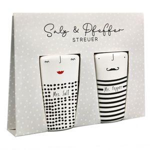Grafikwerkstatt Salz- und Pfefferstreuer Set Mrs. Salt & Mr. Pepper