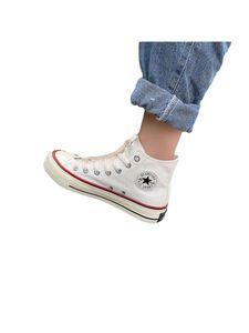 Uni-Schnürschuhe Aus Segeltuch Flache Einzelschuhe Mode Multicolor Sportschuhe Freizeitschuhe,Farbe: Weiß,Größe:45
