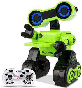 GOPLUS 2,4GHz Intelligenter Roboter Spielzeug für Kinder, Elektrisches und Ferngesteuertes Lernspielzeug mit Sprachfunktion/Touch Funktion/Tanzen/ Gehen, Geschenk für Jungen/M?dchen, Farbewahl (Grün)