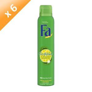 FA Lemon Tropic Zerstäuber Deodorant - Charge von 6x 200 ml