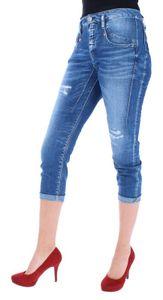 HERRLICHER SHYRA CROPPED Damen Jeans 5-Pocket-Jeans im Destroyed Style, Größe:24, Herrlicher Farben:Mariana Blue Destroy 834