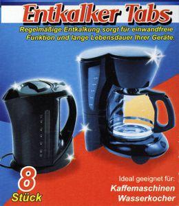 8x ENTKALKER Tabs 16g Entkalkertabletten Entkalkungstabletten Kaffeemaschine 40