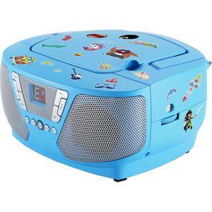 Bigben Interactive CD60RSSTICK Tragbares Kinder Radio, FM, CD-Audio, Portable CD Player, Farbe: Blau