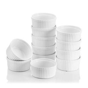 """MALACASA, Serie Ramekin.Dish, 12-teilig Mini Souffléförmchen, Muffinförmchen, förmchen für Cupcakes, Muffins und Pudding 4,3""""/11cm/310ml"""