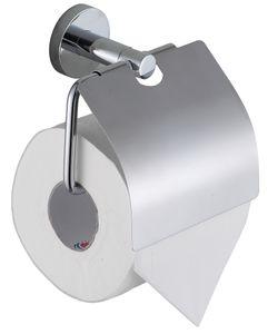 Schütte WC-Rollenhalter LONDON Toilettenpapierhalter mit Abdeckung Edelstahl Chrom 10013