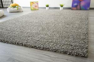 Steffensmeier Shaggy Hochflor Teppich Funny Soft Touch Langflor grau flauschiger Wohnzimmerteppich, Größe: 120x170 cm