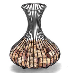 Weinkorken Aufbewahrungsflasche Weinkorkenhalter  Korkstopper  Metall Weinregal Weinflasche Fass Eisenkorken Sammelbehälter Korb