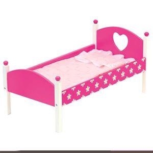 Wunderschönes Puppenbett mit Bettwäsche