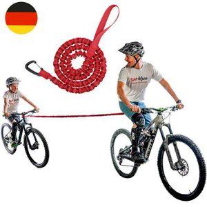Melario Abschleppseil Fahrrad KinderTraktionsseil Eltern Kind Zugseil Abschleppseil Rot