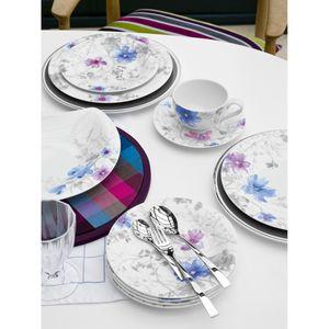 Villeroy & Boch Mariefleur Gris Basic Tafelservice 12-teilig, Premium Porzellan, Farbe:Bunt