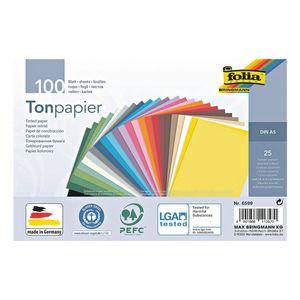 Tonpapier - 25 Farben (100 Blatt)