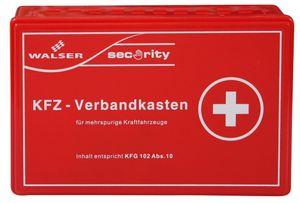 Walser KFZ Verbandskasten gemäss KFG 102 Abs. 10, 25,5 x 16,5 x 8 cm rot, 44157