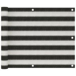 Balkon-Sichtschutz Balkonverkleidung Balkonbespannung | Sonnenschutz Windschutz Modern HDPE 75x300 cm Anthrazit und Weiß | 2254