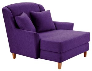Max Winzer Judith Big-Sessel inkl. 1x Zierkissen 55x55cm - Farbe: lila - Maße: 136 cm x 142 cm x 107 cm; 2891-767-1643751-F01