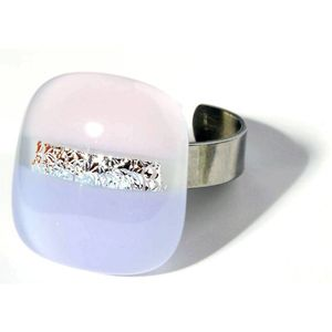 Ring mit Glasstein Fresh Opal lila