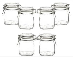 Fido Einmachgläser 6er Set Gläser mit Bügelverschluss 0,75L