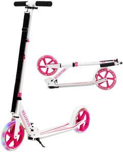 COSTWAY Scooter Roller klappbar, Tretroller höhenverstellbar, Cityroller 100kg Tragkraft, Sport Kickscooter, Kickroller mit 2 LED Rädern