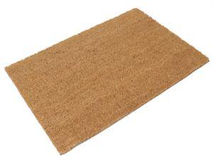 Fußmatte für innen & außen, Kokos Fussmatte für die Haustür, Kokosmatte rutschfest Türmatte 40x60 cm