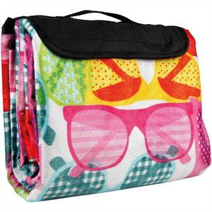 Picknickdecke mit Fotodruck in 200x200cm, Motiv: Sonnenbrillen