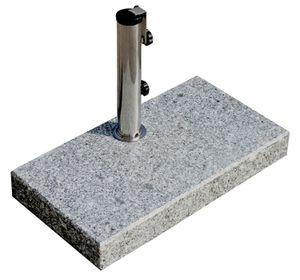 PROKIRA® Sonnenschirmständer Schirm Ständer Balkon Schirmständer eckig Granit Edelstahl 25kg