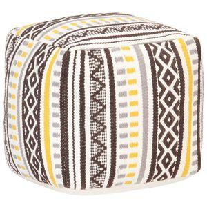 Pouf Gewebtes Design Mehrfarbig 45x45x45 cm Baumwolle